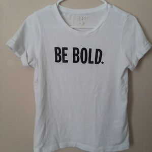 *FINAL PRICE- White Tee with Glitter Text
